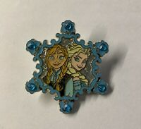 Disney Frozen Elsa And Anna Jeweled Snowflake Pin