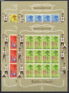 Maldives 1968 Mi. 248-251 Miniature sheet 100% MNH Boy Scout