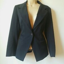 *Charlotte Russe Small Blazer Single Button Navy Blue Work Career A3