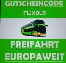 Flixbus / Flixtrain Freifahrt Direktfahrt Europa Gutschein Ticket 100% voucher