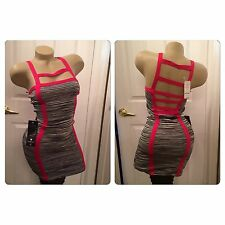 Bebe Ladder Cut Out Caged  Dress Small New Nwt