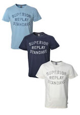 Replay Cotton Crew Neck T-Shirts for Men