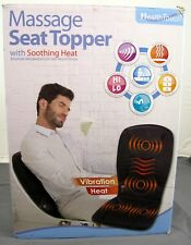 Health Touch Massage Seat Topper w/ Soothing Heat 2-Level Vibration Intensity