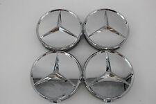 4x Original Mercedes-Benz Nabendeckel Nabenkappen 75mm Chrom A1644000025