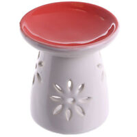 Red Cut Out Flower Wax Warmer/Burner with pack of 10 Handpoured Scented Melts