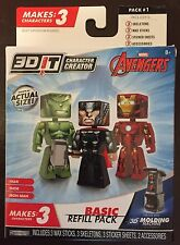 3D IT Character Creator Marvel Avengers Basic Refill Pack 3 mini figure Hot TOY