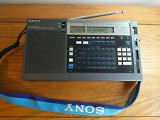 RARE Sony ICF-2001D Portable World Band SW/MW/LW/FM Receiver Shortwave Radio*VGC
