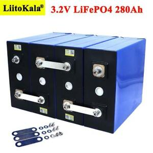 Liitokala 3.2v 280ah Lifepo4 Battery Diy 12v 24v 280ah Rechargeable Electric Bat