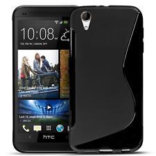 Handy Hülle HTC Desire 728 G Silikon Case Slim Cover Schutz Hülle Tasche Schwarz