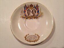 """Vintage J&G Meakin England """"Queen Elizabeth & King George"""" Commemoration Saucer"""