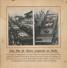 PHOTO PRESSE c. 1910 - Fête des Fleurs à Genzanodi Roma  Italie  - 235