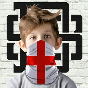Children's Kids Face Mask England St Georges Football Neck Warmer Snood Scarf