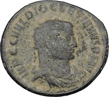 DIOCLETIAN receiving Victory on globe from  JUPITER  Ancient Roman Coin  i47027