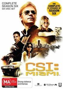 CSI: Miami : Season 6 (DVD, 2010, 6-Disc Set)--FREE POSTAGE