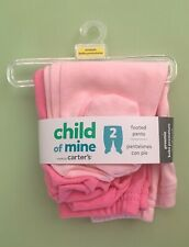 CHILD OF MINE BY CARTER'S  Light/Dark Pink Footed Pants/Leggings, 2 pack PREEMIE