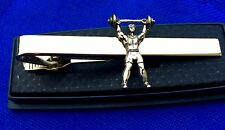 weight lifter body builder athlete tie clip gift fast shipping NEW