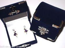 Orecchini di lusso con gemme tondi zircone argento