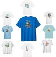TOMMY BAHAMA Graphics Tee Crew Neck Shirt Medium Size -