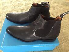John Fluevog 10.5 mens Black Ankle boots- Twin Turbine Chelsea