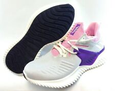 Youth Girls Kids Adidas Alphabounce Beyond 2 F33984 Grey Pink Sneakers Shoes