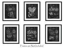 "6 Patent Prints Harley Davidson American Motorcycle Lovers Gift 8""x10"" Wall Art"