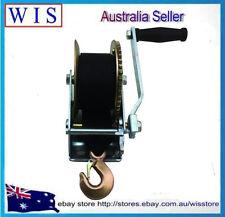 1400LBS/630Kg Hand Gear Winch 2-Ways Synthetic Strap Manual Car Boat Trailer