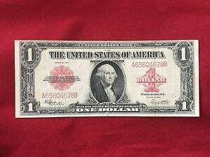 FR-40 1923 Series $1 One Dollar Red Seal US Legal Tender Note *Very Fine*