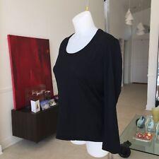 GIANNI VERSACE COUTURE black women's long sleeve wool t-shirt Italian size 46
