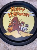 Vintage 1990' Happy Halloween Metal Tray- Preowned- House Of Lloyd