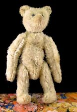 """Antique Vintage Straw-Filled MOHAIR JOINTED BEAR Teddy Bear Plush 8"""""""