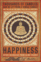 NEW Thousands Of Candles Buddha Motivational Happiness Poster Art Print 24 x 36