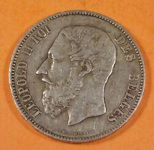 1873  BELGIUM 5 FRANCS - Silver