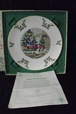 Royal Doulton Plate Victorian Christmas SLEDDERS 1979 WITH BOX