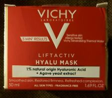 Vichy LiftActiv Hyalu Face Mask - Full Size - Exp 2021 - New in Box - Sealed Jar
