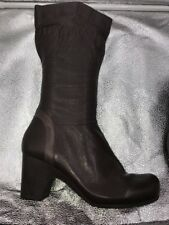 CLARKS Womens Active Air Calf Length Brown Leather Boots Size 8 Immaculate
