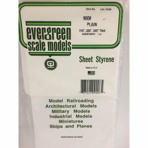 """Evergreen Styrene Plastic 9008 White Sheet Assortment 6"""" x 12"""" (3)"""