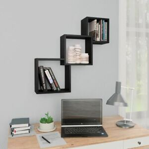 Wall Mounted Cube Storage Rack Hanging Shelf Set Floating Decor Display Unit