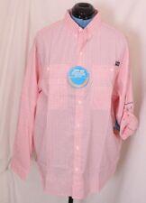 Columbia PFG Super Tamiami Omni-Shade Red Button-Up Casual Fishing Shirt Men's L