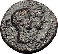 Greek King RHOEMETALKES of THRACE & AUGUSTUS Authentic Ancient Roman Coin i60753
