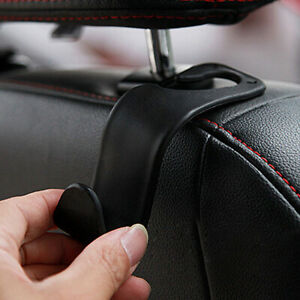 Black Auto Car Seat Hook Purse bag Hanger Bag Organizer Holder Clip Accessories
