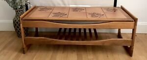 Mid Century Coffee Table. Vintage Teak Table with Tiled Top. Good condition