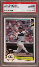 1982 DONRUSS # 535 REGGIE JACKSON ☆HALL OF FAME☆ N.Y. YANKEES PSA 10 GEM-MINT