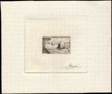 NEW CALEDONIA #320 Sailboats. Trees. Rare Signed Artist Die Proof! Very Fine!