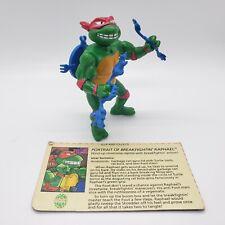 Breakfightin' Raph Raphael Wacky Action TMNT Ninja Turtles Figure Complete Card