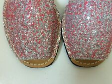 Glitter Leather Menorcan/ Spanish Avarca Sandals for Winter Holiday/Cruise