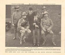 1900 ANTIQUE PRINT - BOER WAR- LORD LOCH AND OFFICERS OF HIS SOUTH AFRICAN CONTI