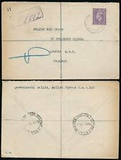 GB KG6 1946 REGISTERED POLAND FPO 104 to POLISH RED CROSS LONDON