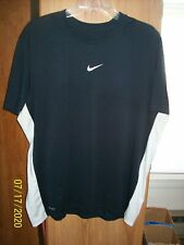 Men's Nike Dri - Fit Ss Black Athletic T-Shirt X-Large