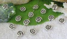 40pcs Tibetan silver spiral spacer beads FC10827