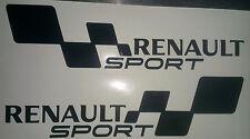 2x RENAULT SPORT FLAG Set Car/Van/Window JDM VW VAG EURO Vinyl Decal Sticker